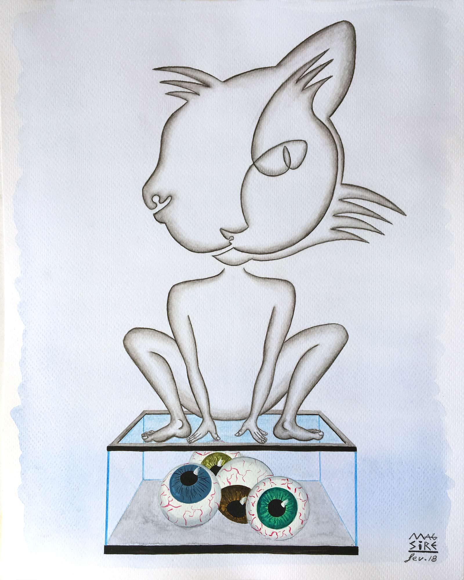 Les yeux de Kala | 30 x 24 cm