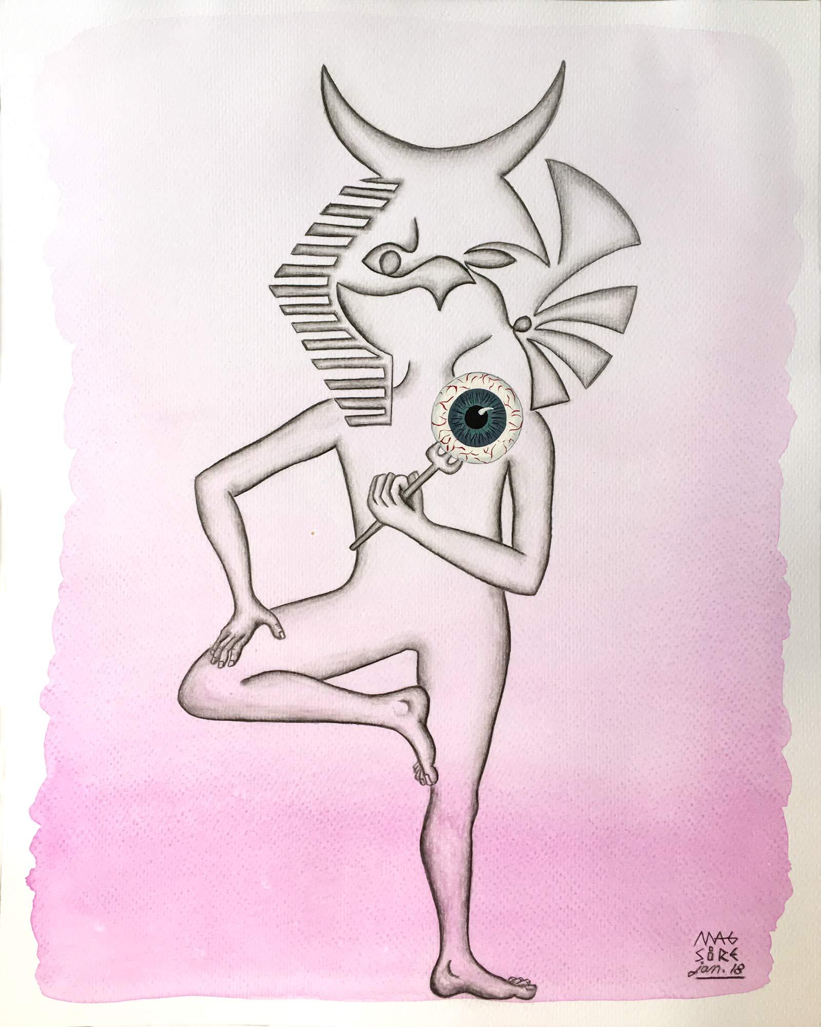 L'oeil d'horus | 30 x 24 cm