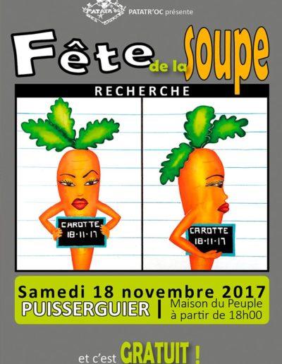 Affiche fête de la soupe 2017