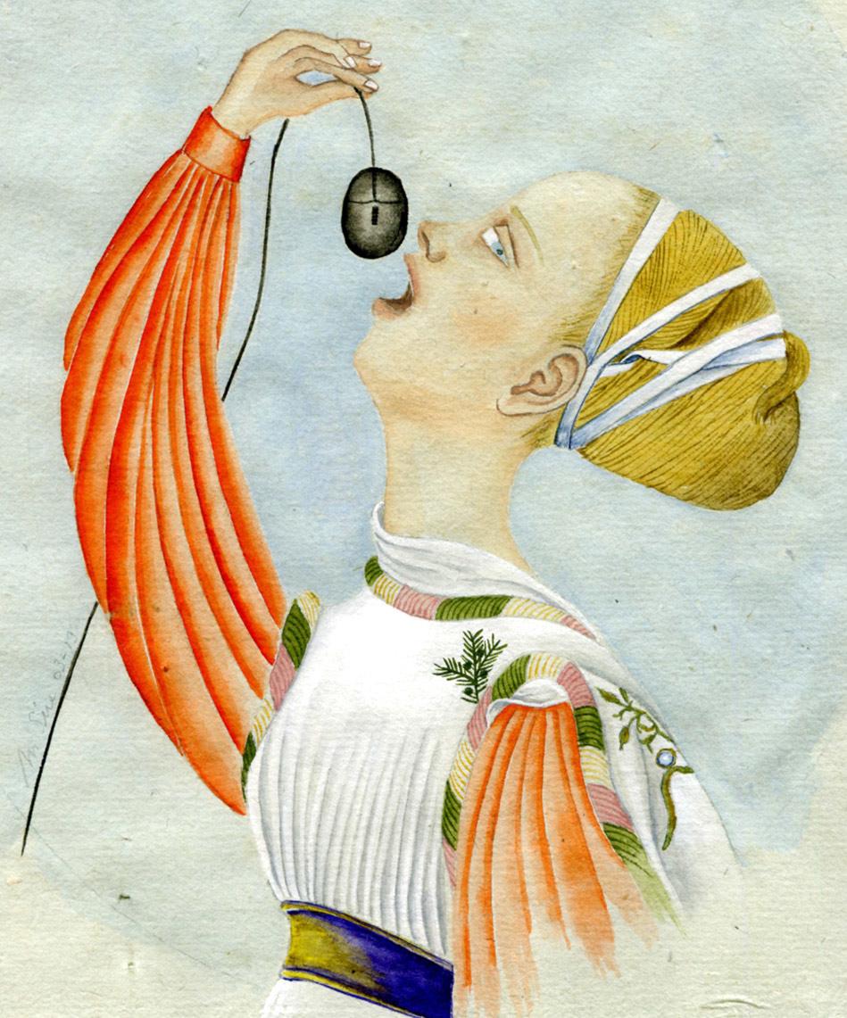 Princesse geek, à la Pisanello | 15 x 12 cm