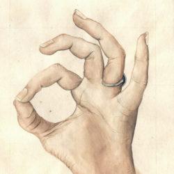 40 avec les mains | 2019 <br/>22 x 27 cm