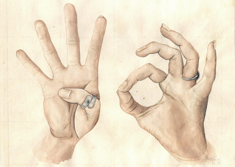 40 avec les mains | 22 x 27 cm