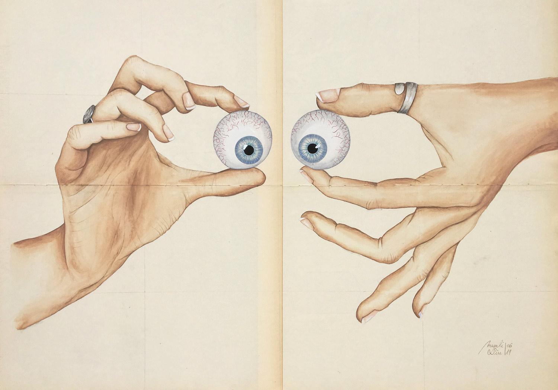 Louche avec les mains | 50 x 70 cm