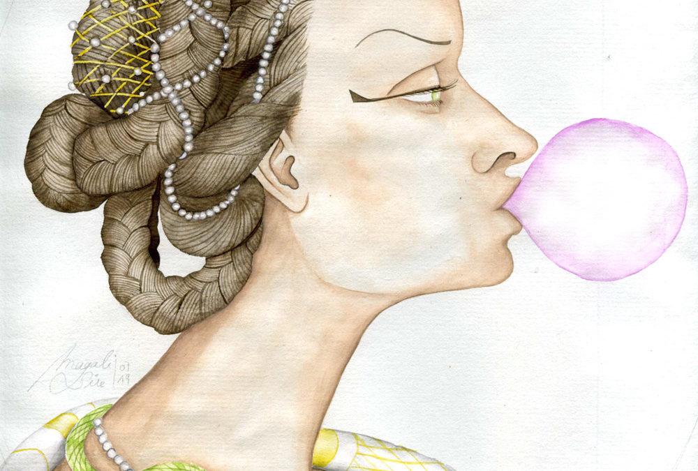 Cléopâtre et son malabar | 2019 29 x 23 cm