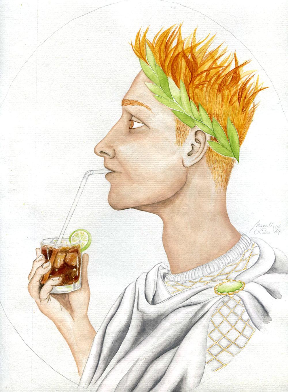 Octave et son Rome-Coca | 29 x 23 cm