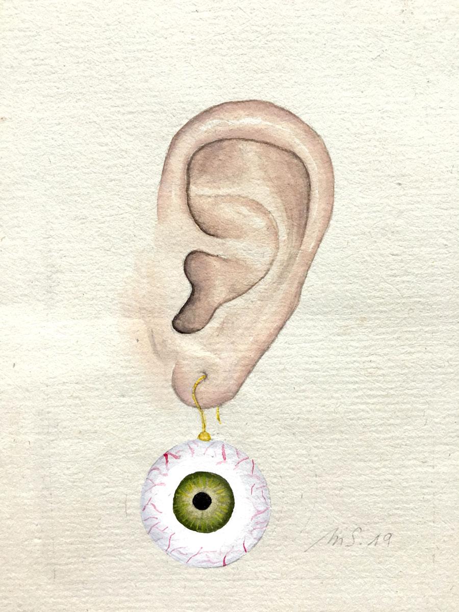 La boucle d'oeil | 9 x 7 cm