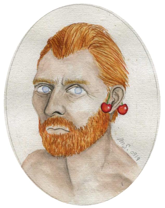 Vincent à la cerise | 8.5 cm x 5.5 cm