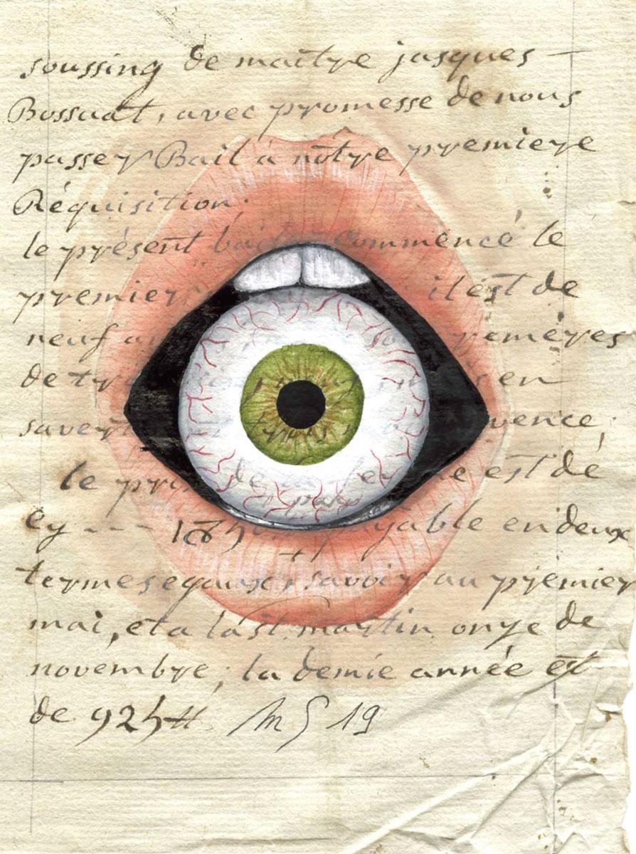 L'oeil à la bouche  | 2019 <br/>13 x 9 cm