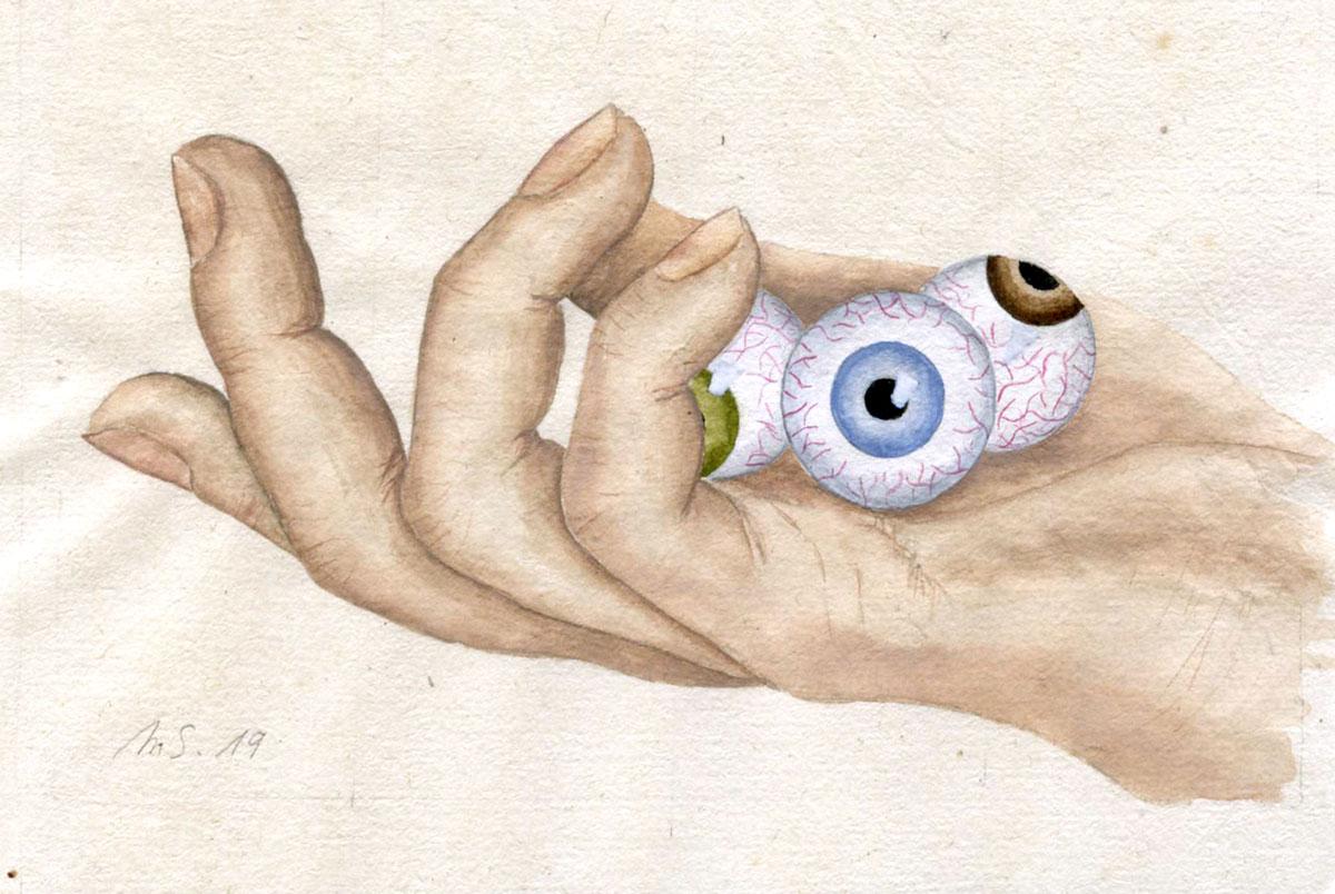 Poignée d'yeux  | 2019 <br/>10 x 15 cm