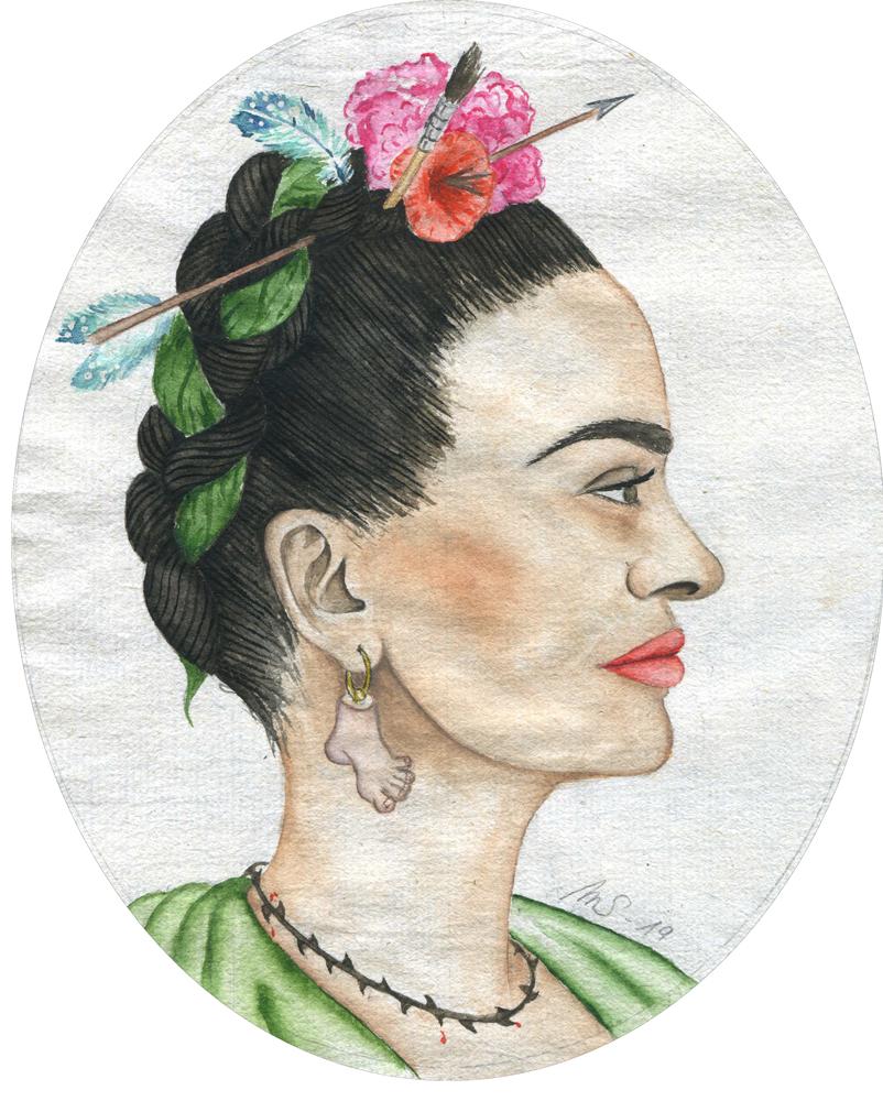 Le pied de Frida | 14 cm x 11 cm