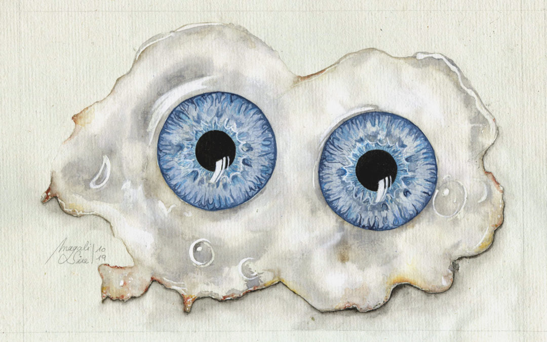 Les yeux sur le plat | 2019 15 x 21 cm