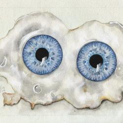 Les yeux sur le plat  | 2019 <br/>15 x 21 cm