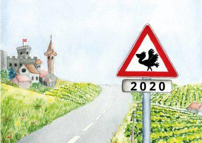 Illustration carte de voeux 2020