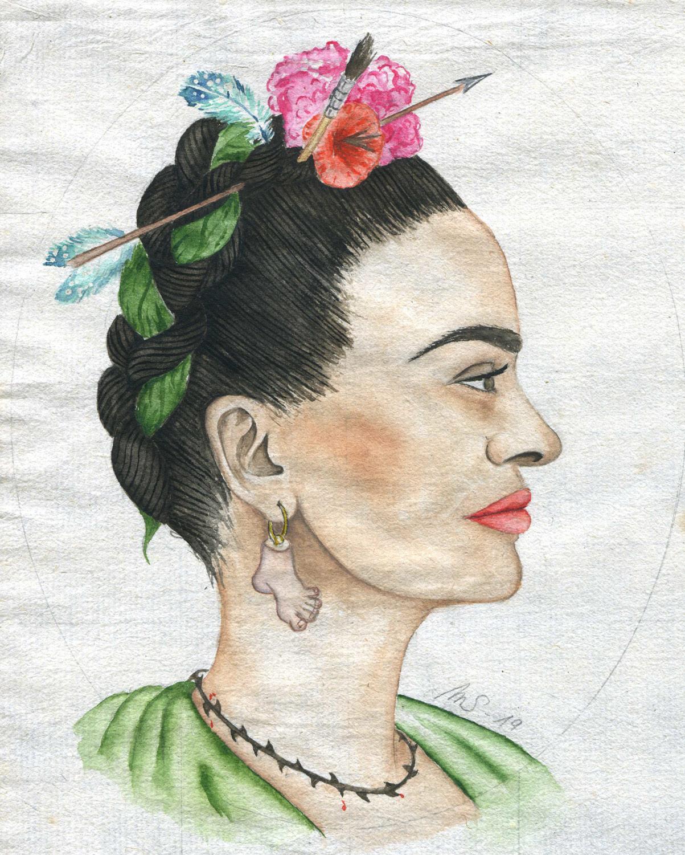 Le pied de Frida | 2019 <br/> 14 x 11 cm