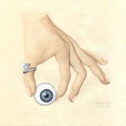 Entre 4 yeux – I | 2020 <br/>15 x 15 cm