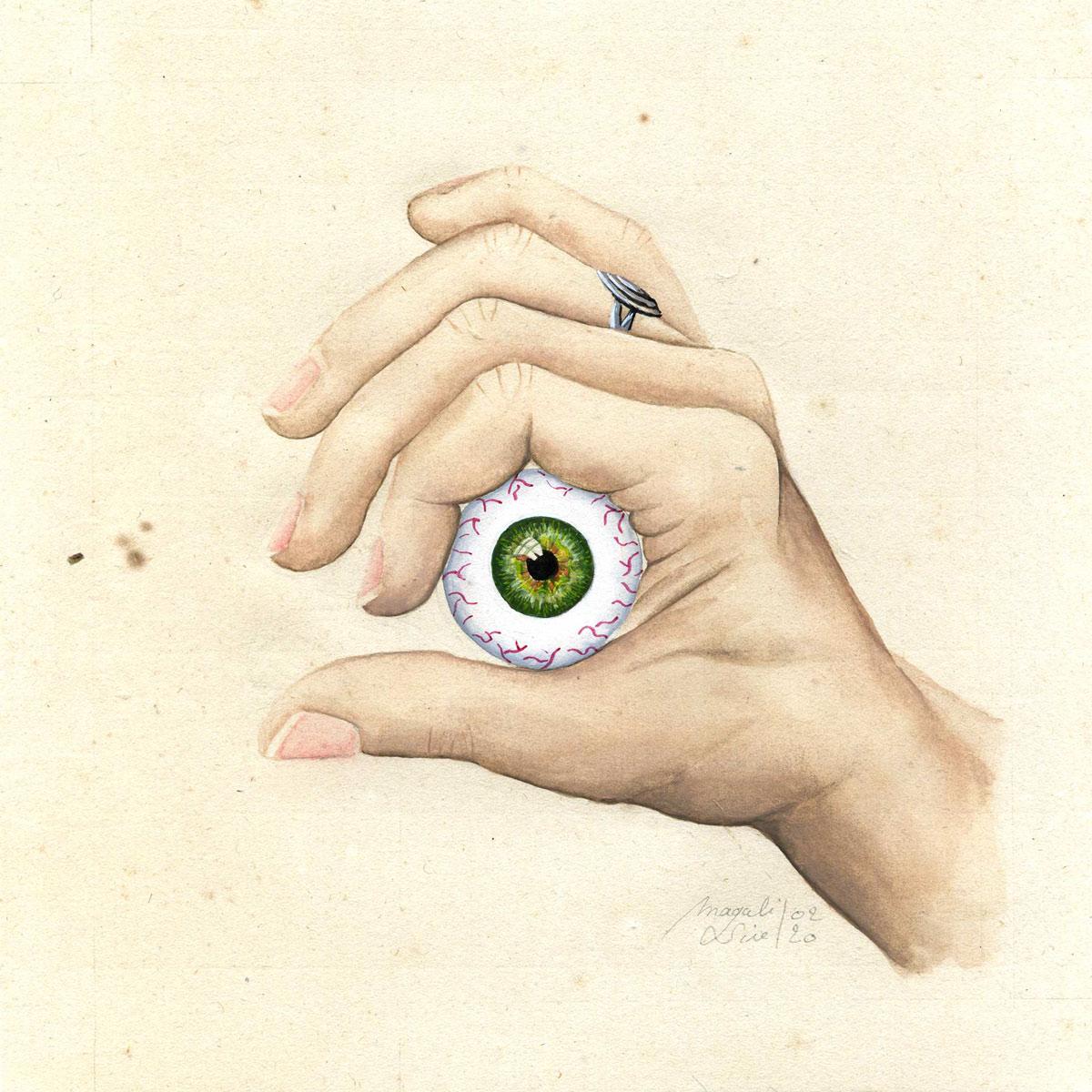 Entre 4 yeux – II | 2020 <br/>15 x 15 cm