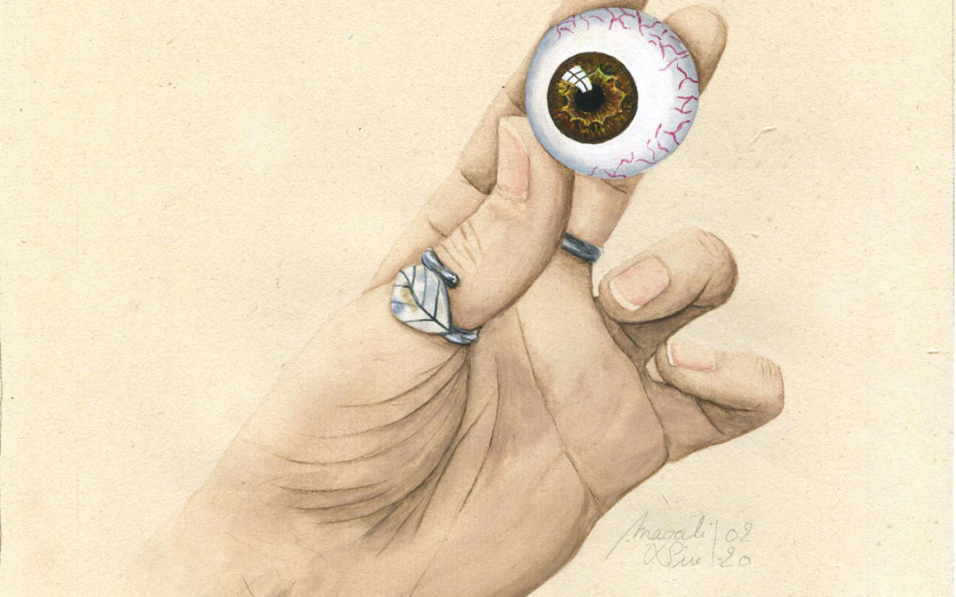 Entre 4 yeux - IV   2020 15 x 15 cm