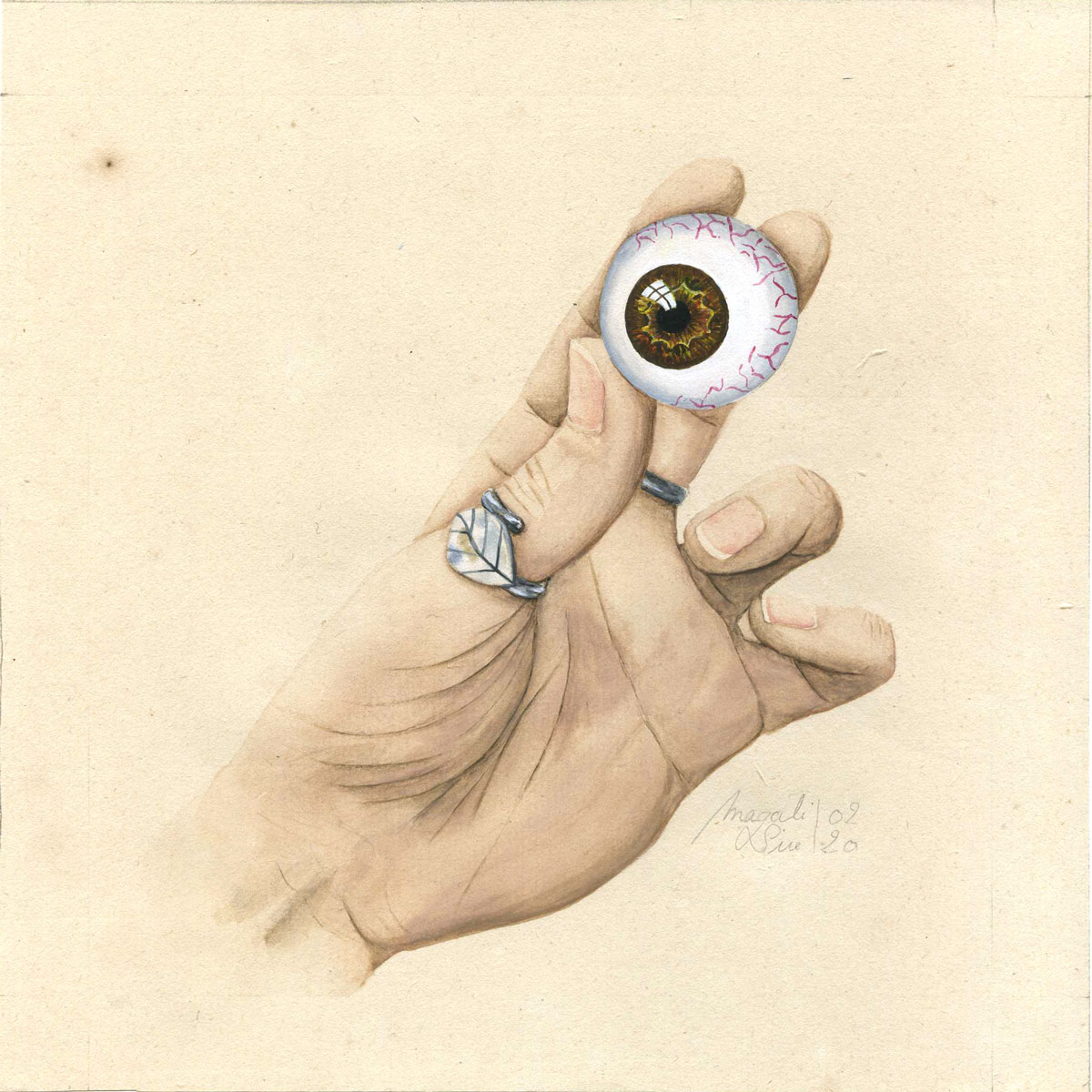 Entre 4 yeux – IV | 2020 <br/>15 x 15 cm