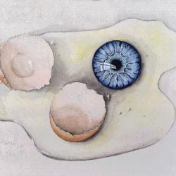 L'oeil cassé | 2019 <br/>16 x 21 cm