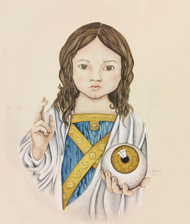 La fille de Dieu | 2021<br/>38 x 32 cm